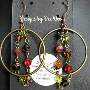 Bronze Ton Hook & Hoop Earrings